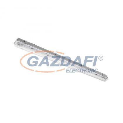 """ELMARK 9BM118LEDCW """"Bella"""" falon kívüli vízálló LED armatúra fénycsövekkel, G13, T8, 230V, 1x18W, 1440lm, 6200-6500K, szürke, 1270x86x100mm, IP65, A++-A/A+, 30000h"""