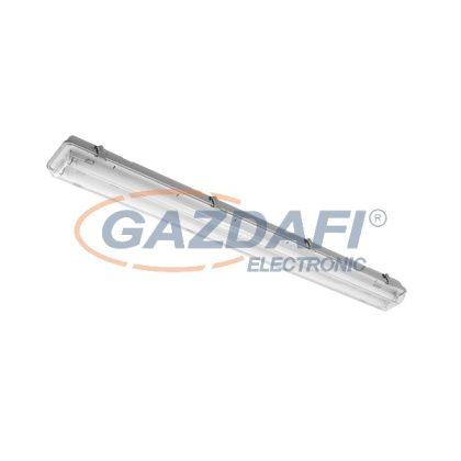"""ELMARK 9BM218LEDCW """"Bella"""" falon kívüli vízálló LED armatúra fénycsövekkel, G13, T8, 230V, 2x18W, 2880lm, 6200-6500K, szürke, 1270x131x100mm, IP65, A++-A/A+, 30000h"""