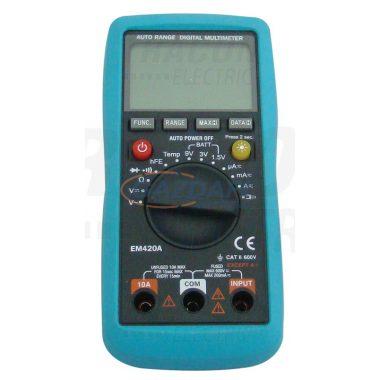 TRACON EM420A Digitális multiméter DCV,ACV,DCA,OHM,diode check,hFE