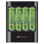 GP B04218 USB akkumulátor töltő U421 + 4×AA GP ReCyko+