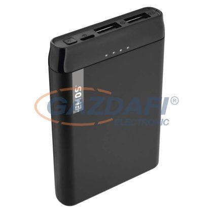 EMOS B0521B Powerbank 5000mAh fekete 2xUSB