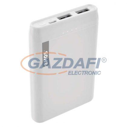 EMOS B0521W Powerbank 5000mAh fehér 2xUSB