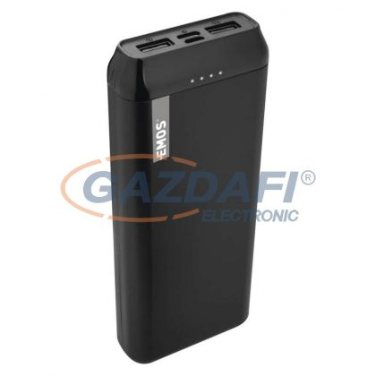 EMOS B0523B Powerbank 20000mAh fekete 2xUSB 1xUSB-C