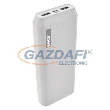 EMOS B0523B Powerbank 20000mAh fehér 2xUSB 1xUSB-C