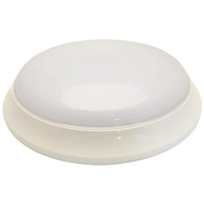 TRACON EVAE14NW Műanyag búrás falon kívüli LEDlámpatest inverterrel 100-240V,50Hz,14/2W,1000/140lm,1h,4000K,IP54, EEI=A