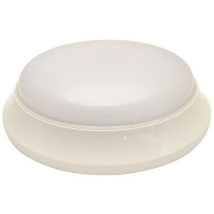 TRACON EVAS28NW Műanyag búrás falon kívüli LEDlámpatest mozgásérzékelővel 100-240V,50Hz,28W,2100lm,4000K,1-8m,10s-12m,IP54,EEI=A