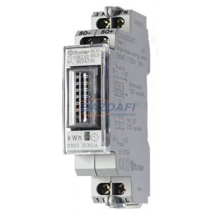 FINDER 7E.13.8.230.0010 Fogyasztásmérő, 1F, 1KE, Hiteles