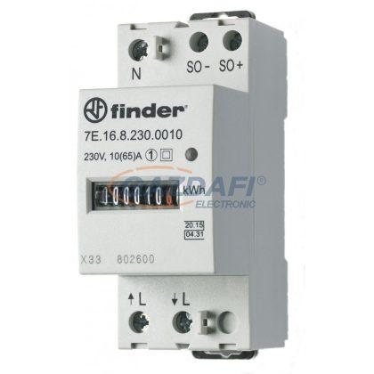 FINDER 7E.16.8.230.0010 Fogyasztásmérő, 1F, 2KE, Hiteles