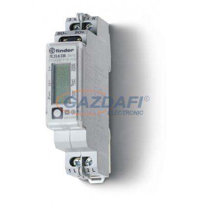 FINDER 7E.23.8.230.0010 Fogyasztásmérő, 1F, 1KE, 32A, LCD, MID