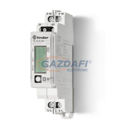 FINDER 7E.23.8.230.0210 Fogy. mérő, 1F,1KE,32A,LCD,MODBUSZ, Hit.