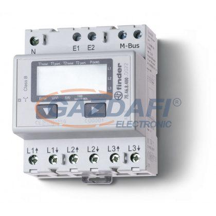 FINDER 7E.46.8.400.0022 Fogyasztásmérő, 3F, 4KE, 65A, LCD,M-BUSZ