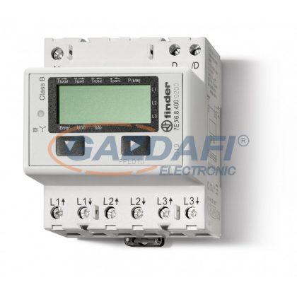 FINDER 7E.56.8.400.0200 Fogy.mérő,áv./5A,3F,4KE,LCD,MODBUSZ
