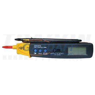 TRACON FV-03 Kézi digitális multiméter keresőfénnyel 600V AC/DC, 0,2A DC, 20MOhm