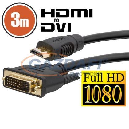 20381 DVI-D / HDMI kábel · 3 m