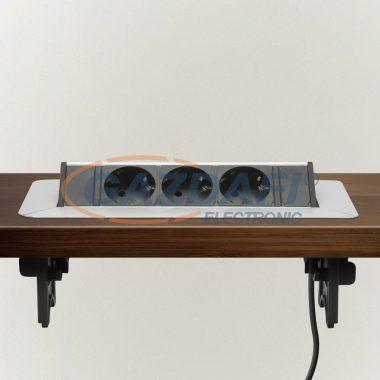 DELIGHT 20440 Rejtett elosztó 3-as ,felnyíló kivitel , 230 V, 16 A, kábelhosszúság 1,5 m, 3 x 1,5 mm²