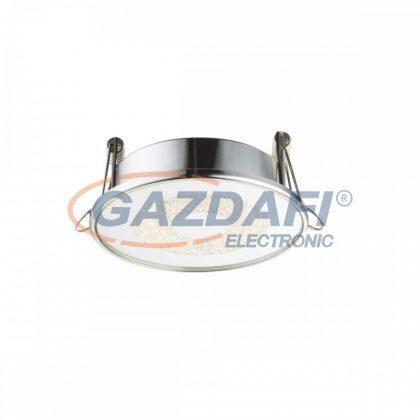 GLOBO 12005 MANDA Süllyesztett lámpa , LED 6W , 4000 K , 400 Lm , króm , alumínium , üveg , K5 kristályok