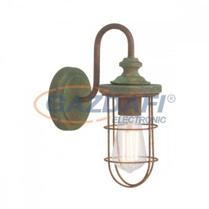 GLOBO 15027W TERU Fali lámpa , 60W , E27 , fém, rozsda hatás, antik zöld