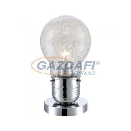 GLOBO 15039T  ALEXIS  Asztali lámpa ,  LED 8W , E27 , 2700 K , 776 Lm , króm, alumínium háló, üveg