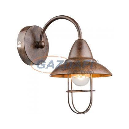 GLOBO 15126W  KOVA  Fali lámpa , 40W , E14 , fém, antik ezüst, üveg