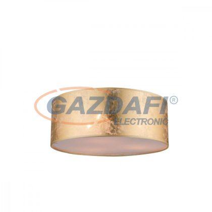 GLOBO 15187D Amy Mennyezeti lámpa , 40W , 3x E14 , nikkel matt , textil , műanyag , arany színű
