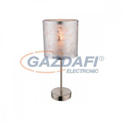 GLOBO 15188T Amy I  Asztali lámpa , 40W , E14 , fémfehér, textil, ezüst, műanyag, ezüst