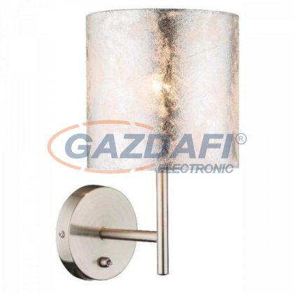 GLOBO 15188W Amy I Fali lámpa , 40W , E14 , fémfehér, textil, ezüst, műanyag, ezüst