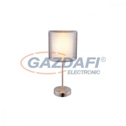 GLOBO 15190T Theo Asztali lámpa , 40W , E14 , nikkel mat, len, műanyag
