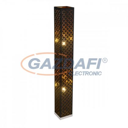 GLOBO 15229S2  CLARKE Állólámpa , 40W , 2x E27 , nikkel matt, textil, műanyag arany