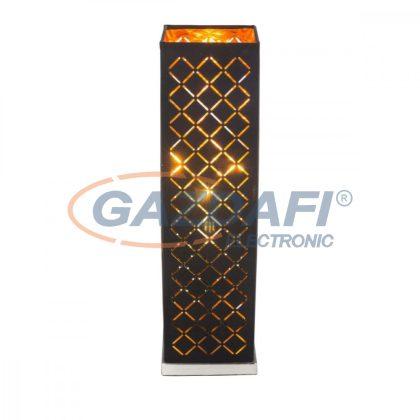 GLOBO 15229T CLARKE   Asztali lámpa , 40W ,  E14 , nikkel matt, textil, műanyag arany