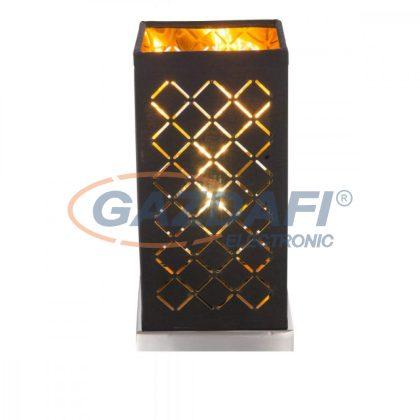 GLOBO 15229T1  CLARKE Asztali lámpa , 40W , E14 , nikkel matt, textil, műanyag arany