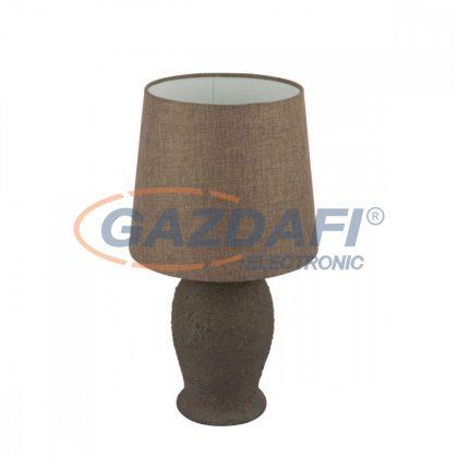 GLOBO 15262T REA Asztali lámpa , 60W , E27 , fém, rozsda hatású, kender , kerámia