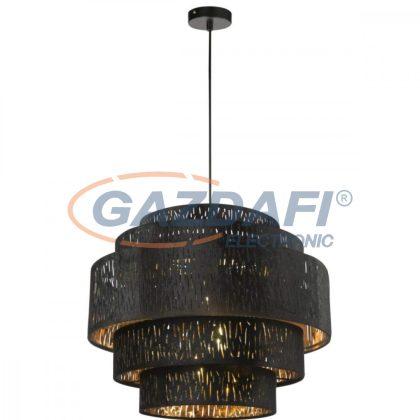GLOBO 15264H3 TUXON  Függeszték , 60W , E27 , fém fekete / bársony / műanyag arany