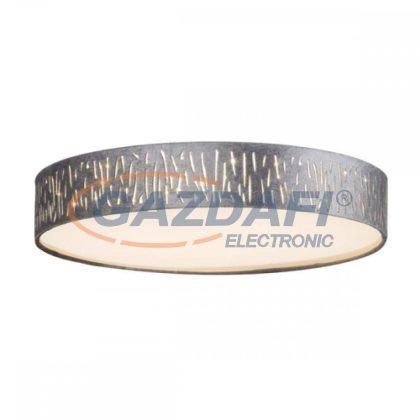 GLOBO 15265D2 TAROK Mennyezeti lámpa , LED 24W ,3000 K , 1120 Lm , fém fehér /bársony / akril /műanyag ezüst