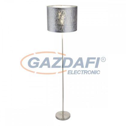 GLOBO 15265S TAROK Állólámpa , 60W , E27 , nikkel matt / bársony / műanyag ezüst