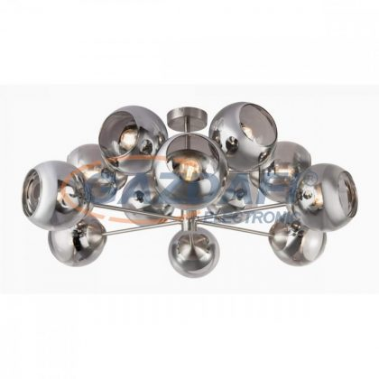 GLOBO 15310-12D SANZA Mennyezeti lámpa , 25W ,  12x E14 , fém, sárgaréz, üveg, arany