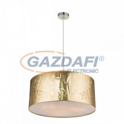 GLOBO 15359H1 TAXOS Függeszték , 60W , 3x E27 , nikkel matt / műanyag arany