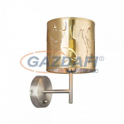 GLOBO 15359W TAXOS Fali lámpa , 40W , E14 , nikkel matt / műanyag arany