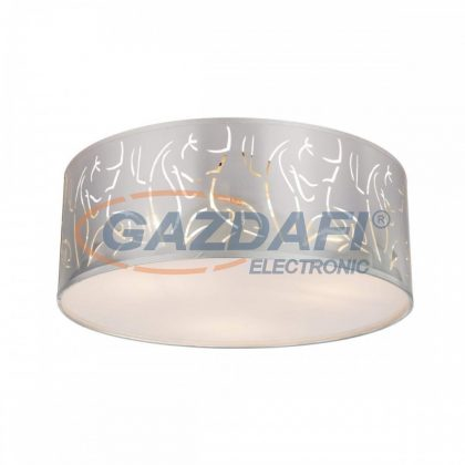 GLOBO 15360D NADI Mennyezeti lámpa , 40W ,  3x E14 , nikkel matt , műanyag ezüst