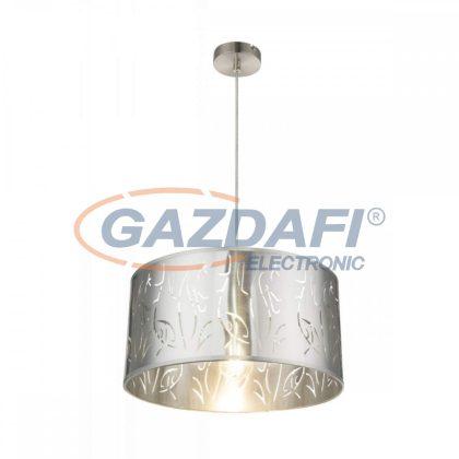 GLOBO 15360H NADI Függeszték , 60W , E27 , nikkel matt / műanyag ezüst