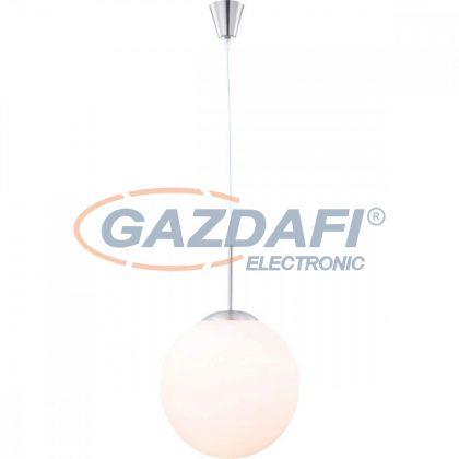 GLOBO 1581 BALLA Függeszték , 60W , E27 , nikkel matt/ opál üveg