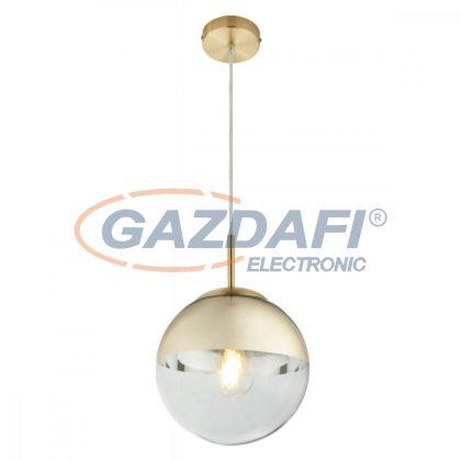 GLOBO 15855 VARUS Függeszték , 40W , E27 , fém, sárgaréz, üveg, arany
