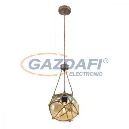 GLOBO 15859H  TIKO Függeszték , 40W , E27 , rozsda hatású / üveg / textil
