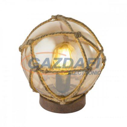 GLOBO 15859T TIKO Asztali lámpa , 40W , E27 , rozsda hatású / üveg / textil