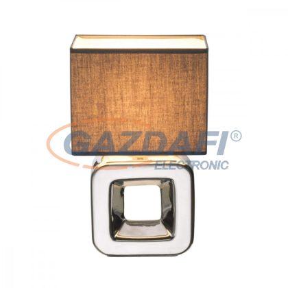 GLOBO 21603 Kilauea Asztali lámpa , 40W , E14 , kerámia, textil, króm