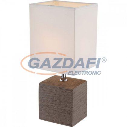 GLOBO 21677 Geri  Asztali lámpa , 40W , E14 , kerámia, króm, textil, műanyag