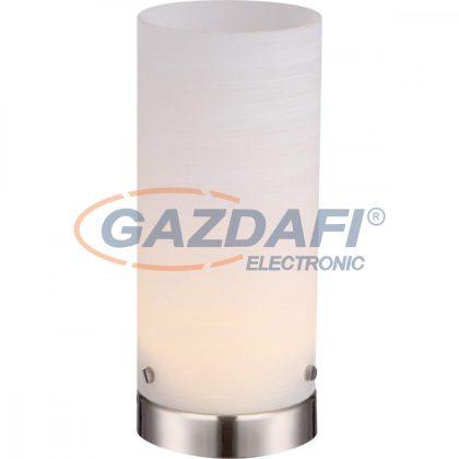 GLOBO 21926 CYLI Asztali lámpa , LED 4W , 3000 K , 276 Lm , nikkel matt/ üveg