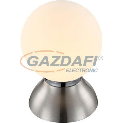 GLOBO 21928 KITTY Asztali lámpa ,  LED 4W , E14 , 3000 K , 220 Lm , króm, nikkel matt, üveg