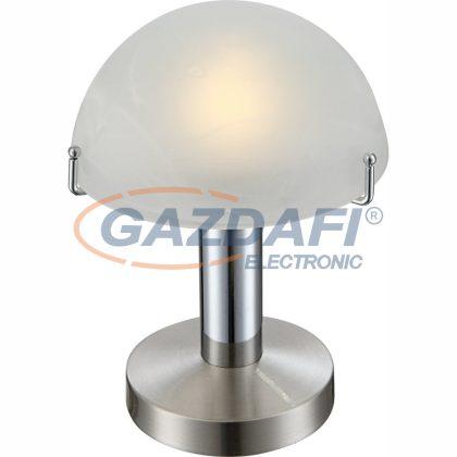 GLOBO 21934 OTTI Asztali lámpa ,  LED 3W , E14 , 3000 K , 195 Lm , nikkel matt, króm, üveg