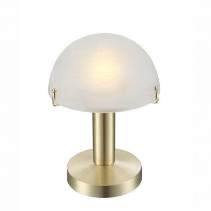 GLOBO 21935 Otti Asztali lámpa , LED 3W , E14 , 3000 K , 195 Lm , sárgaréz, matt, sárgaréz, üveg