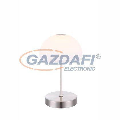 GLOBO 21936  TOLOS  Asztali lámpa , LED 5W , 3000 K , 400 Lm , nikkel matt, üveg